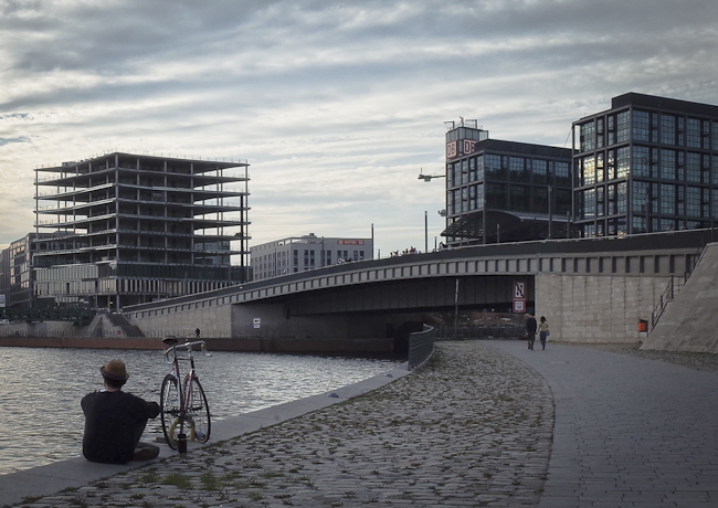 Government quarter at the river Spree. Photograph: Christian Hajer