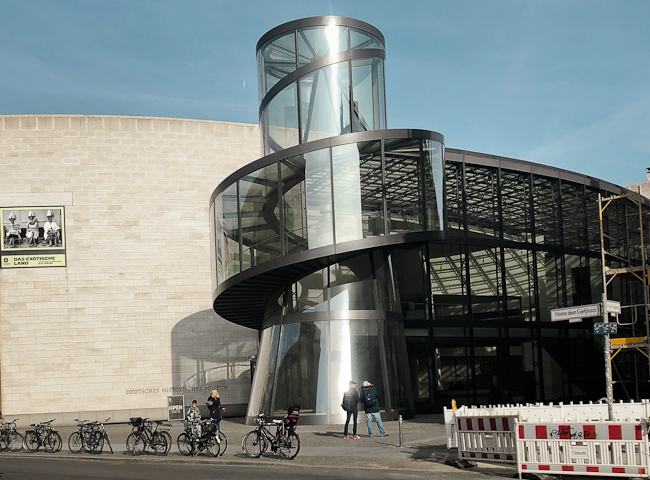 German Historic Museum in Berlin, architect I.M.Pei.   berlininfo architectural tours
