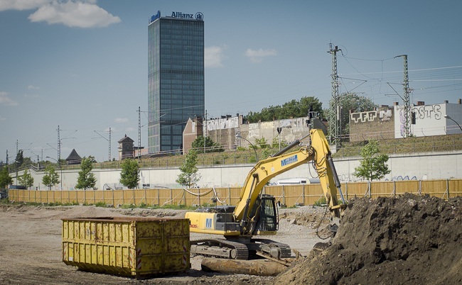 Flächenrecycling auf Konversions Fläche in Berlin-Friedrichshain